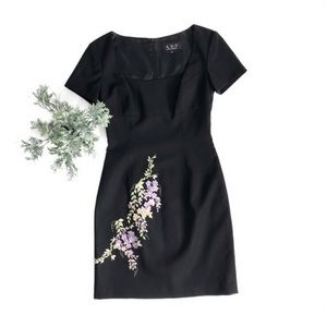 ABS by Allen Schwartz Embroidered Sheath Dress 2